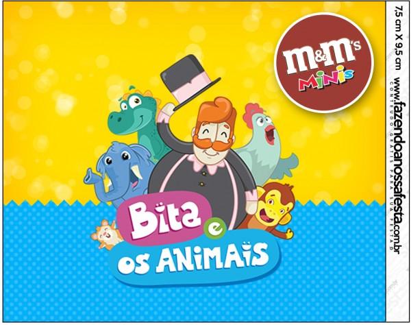 Mini M&M Bita e os Animais para Meninos