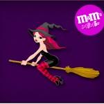 Mini M&M Halloween Bruxinha