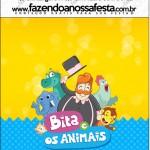 Mini Pastilha Docile Bita e os Animais para Meninos