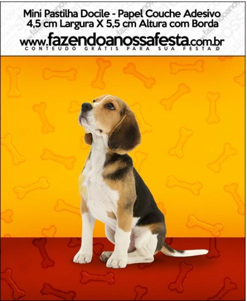 Mini Pastilha Docile Cachorrinho Beagle