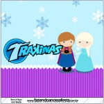 Mini Trakinas Frozen Cute Roxo e Azul