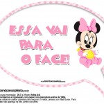 Plaquinhas Divertidas Minnie Baby