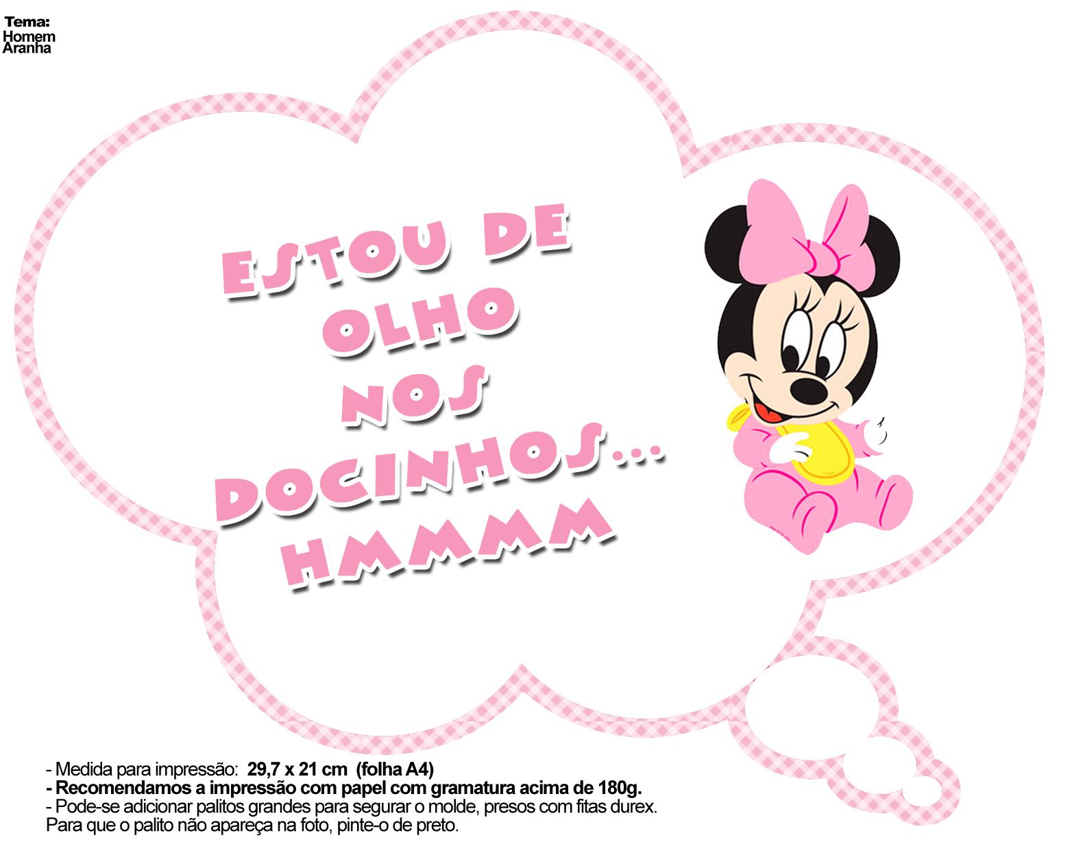 Pin De Orlanda Em Baby Shower Minne Rosa Placas Divertidas