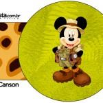 Porta Guardanapos Mickey Safari