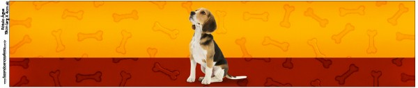 Rótulo Água Cachorrinho Beagle