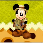 Rótulo Água Mickey Safari