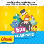 Rótulo Batom Garoto Bita e os Animais para Meninos