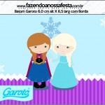 Rótulo Batom Garoto Frozen Cute Roxo e Azul