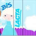 Rótulo Bis Duplo Frozen Cute Roxo e Azul
