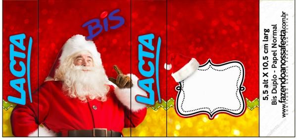 Rótulo Bis Duplo Natal Papai Noel