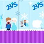 Rótulo Bis Frozen Cute Roxo e Azul