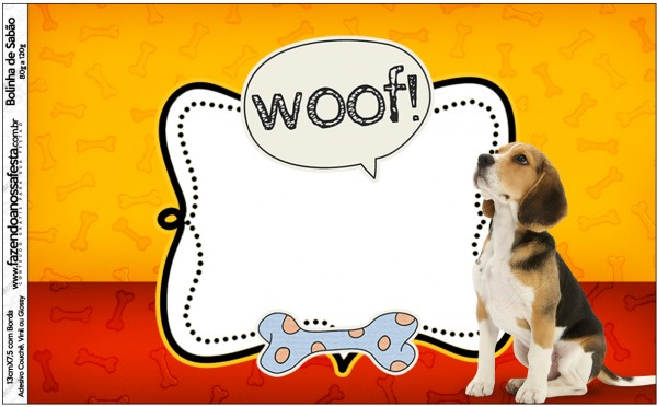 Rótulo Bolinha de Sabão Cachorrinho Beagle