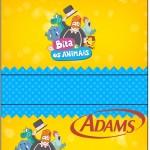 Rótulo Chiclets Adams Bita e os Animais para Meninos