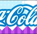 Rótulo Coca-cola Frozen Cute Roxo e Azul