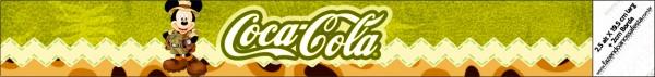 Rótulo Coca-cola Mickey Safari
