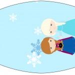 Rótulo Esmalte Frozen Cute Roxo e Azul