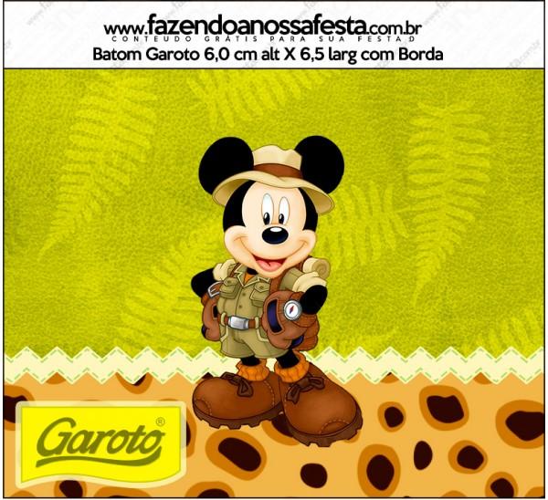 Rótulo Garoto Mickey Safari