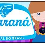 Rótulo Guaraná Caçulinha Frozen Cute Roxo e Azul