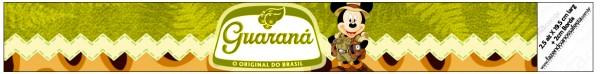Rótulo Guaraná Caçulinha Mickey Safari