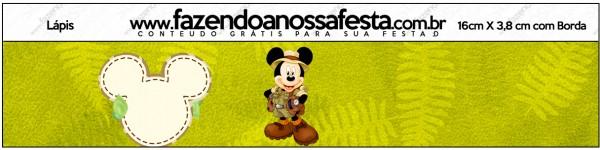 Rótulo Lápis Mickey Safari