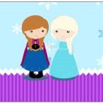 Rótulo Lata de Leite Frozen Cute Roxo e Azul