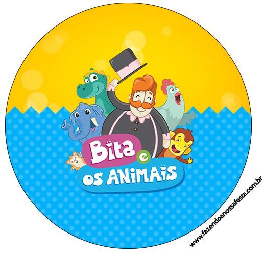 Rótulo Latinhas Bita e os Animais para Meninos