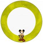 Rótulo Latinhas Mickey Safari