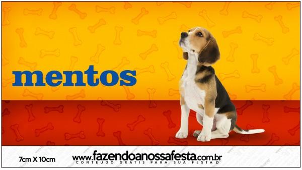 Rótulo Mentos Cachorrinho Beagle
