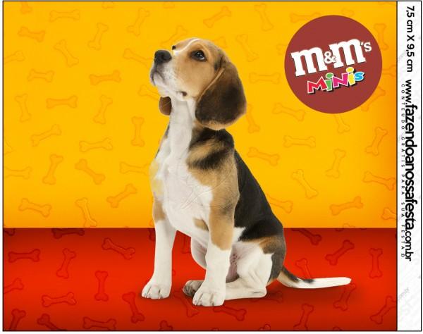 Rótulo Mini M&M Cachorrinho BeagleRótulo Mini M&M Cachorrinho Beagle