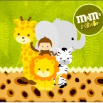 Rótulo Mini M&M Safari