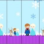 Rótulo Nescauzinho Frozen Cute Roxo e Azul
