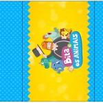 Rótulo Pé de Moleque Yoki Bita e os Animais para Meninos