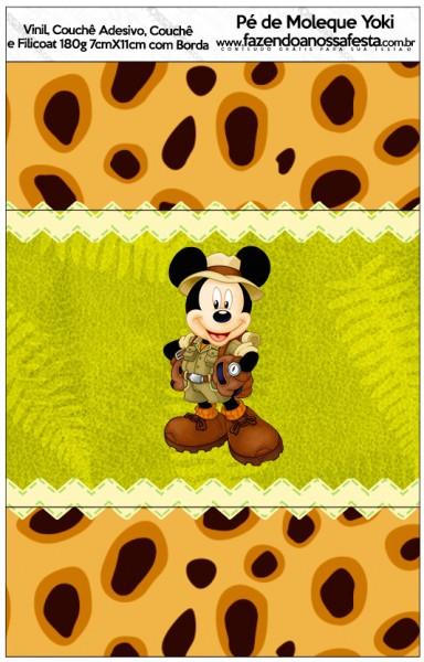 Rótulo Pé de Moleque Yoki Mickey Safari