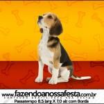 Rótulo Passatempo Cachorrinho Beagle