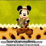 Rótulo Passatempo Mickey Safari