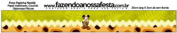 Rótulo Pote Papinha Mickey Safari