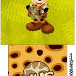 Rótulo Saquinho de Chá Mickey Safari