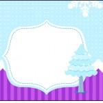 Rótulo Squezze Frozen Cute Roxo e Azul