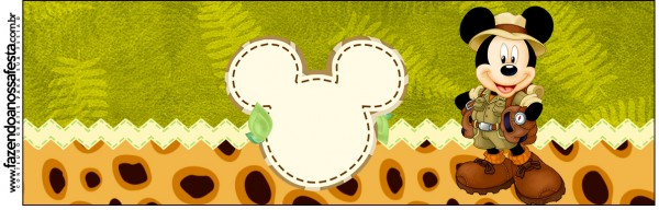 Rótulo Squezze Mickey Safari