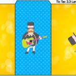 Rótulo Tic Tac Bita e os Animais para Meninos