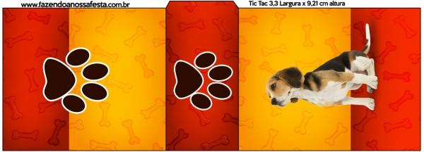 Rótulo Tic Tac Cachorrinho Beagle