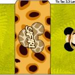Rótulo Tic Tac Mickey Safari