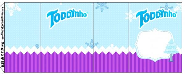 Rótulo Toddynho Frozen Cute Roxo e Azul