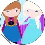 Rótulo Toppers, Tubetes e Latinhas Frozen Cute Roxo e AzulRótulo Toppers, Tubetes e Latinhas Frozen Cute Roxo e Azul