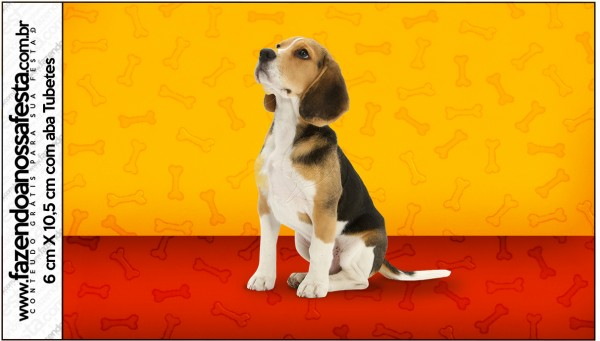 Rótulo Tubetes Cachorrinho Beagle