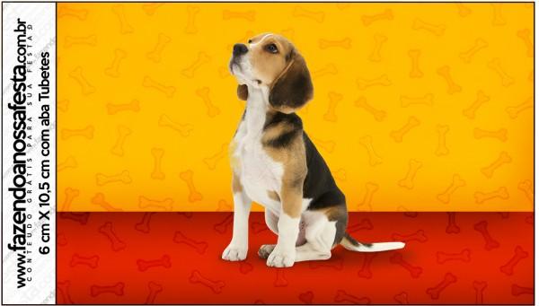 Rótulo Tubetes Cachorrinho Beagle