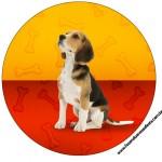 Rótulo Tubetes, Latinhas e Toppers Cachorrinho Beagle