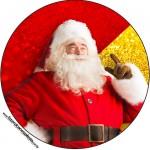 Rótulo Tubetes, Latinhas e Toppers Natal Papai Noel