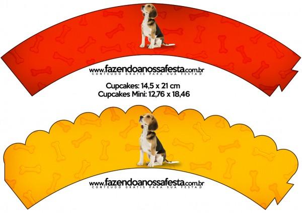 Saias Wrappers para Cupcakes Cachorrinho Beagle