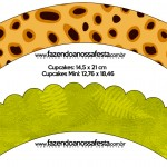 Saias Wrappers para Cupcakes Fundo Safari